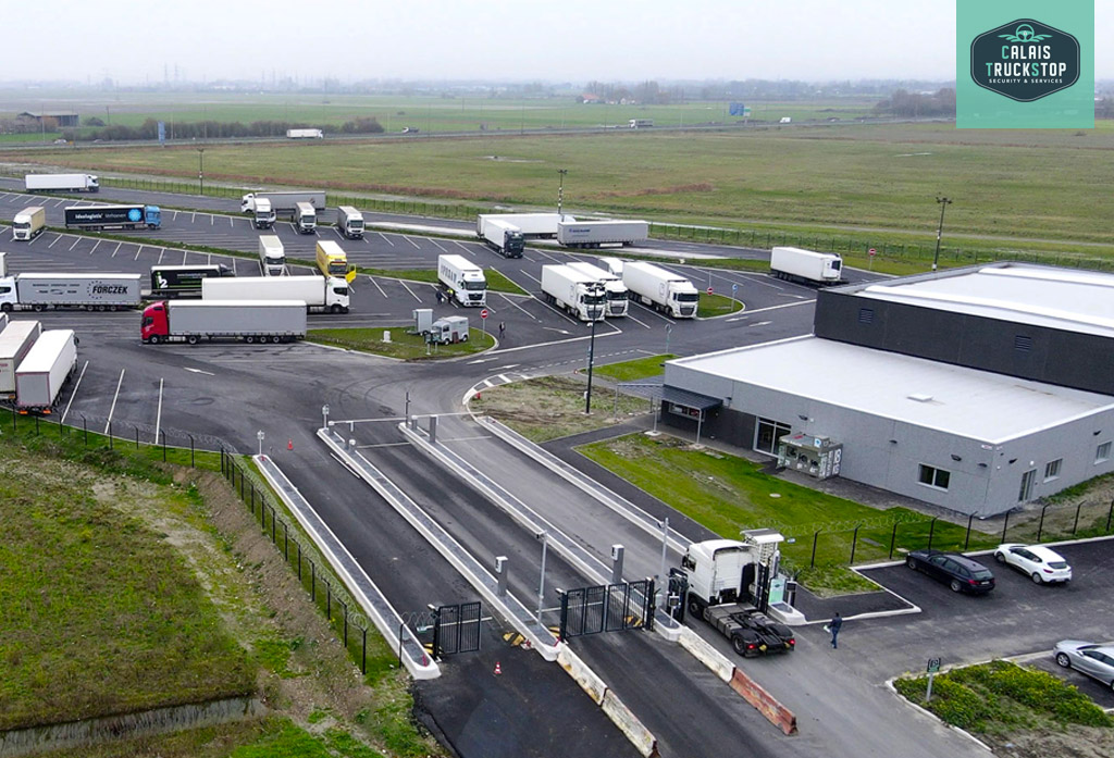 Calais Truckstop : parking pl et station de lavage citerne